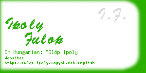 ipoly fulop business card
